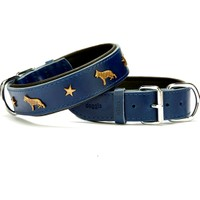 Doggie Comfort Kurt Köpek Metal Süslü Boyun Tasması Mavi 4,0 X 65 cm