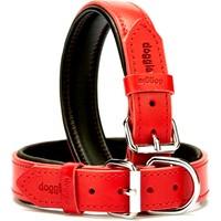 Doggie Yumuşak Deri Pedli Fırstclass Boyun Tasması Kırmızı 3,0 X 55 cm
