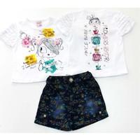 Minice Kids Fırfır Kollu Flowers History Kız Bebek Takımı