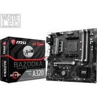 MSI A320M BAZOOKA AM4 AMD Ryzen DDR4 3200+MHz (O.C.) USB 3.1 Anakart