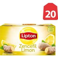 Lipton Bardak Poşet Bitki Ve Meyve Çayı Zencefil Limon 20'Li