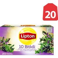 Lipton Bardak Poşet Bitki Çayı 10 Otlu 20'Li