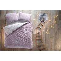 Hibboux by Yataş Dream Like A Star Ranforce Çift Kişilik Nevresim Takımı - Lavender Grey 200X220-30 Gün Deneme Süresi