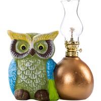 Vitale Peru Mavi Baykuşlu Dekoratif Gaz Lambası