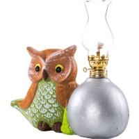 Vitale Peru Yeşil Baykuşlu Dekoratif Gaz Lambası