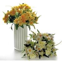 Vitale Yapay Buket Çiçek - (Sarı-Beyaz)