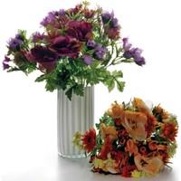 Vitale Rengarenk Yapay Buket Çiçek - Turuncu-Mor