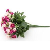 Vitale Rengarenk Yapay Buket Çiçek (Pembe-Beyaz)