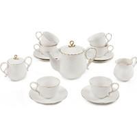 Vitale 17 Parça Gold İşlemeli Çay Seti