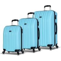 My Valice Line PP 3'Lü Valiz Seti Açık Mavi