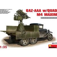 Miniart 1/35 Ölçek Plastik Maket, Gaz-Aaa Ve Quad M-4 Maxim