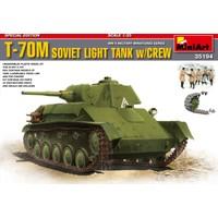 Miniart 1/35 Ölçek Plastik Maket, T-70 M Sovyet Tankı Ve Mürettebatı