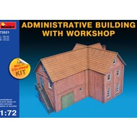 Miniart 1/72 Ölçek Plastik Maket, Atölye Ve Yönetim Binası, Renkli Kit