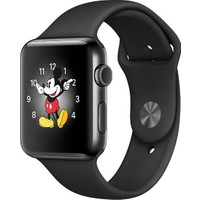 Apple Watch Series 2 42 mm Uzay Siyahı Paslanmaz Çelik Kasa Siyah Spor Kordon MP4A2TU/A