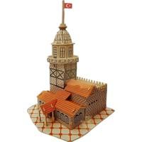 İdeal 3D Büyük Ahşap Maket Kız Kulesi