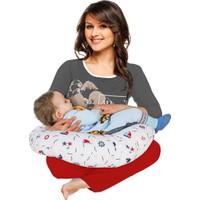 Evsay Emzirme Yastığı Bebek Oturma Minderi Erkek Renkleri