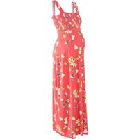 Bpc Bonprix Collection Kırmızı Hamile Giyim Uzun Elbise