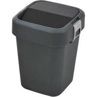 Bauboss 8 Lt. Hassas Kapak Çöp Kovası (Siyah)