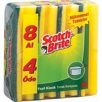 Scotch Brite Sünger Oluklu 8'Li Avantaj Paket
