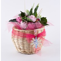 McBaby Bebek Buketi - Kırçiçeği - Pembe