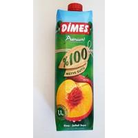 Dimes 1 Lt 100 Meyve Suyu Uzum-Seftali