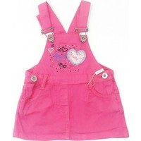 Sani My Love Kız Bebek Salopet Elbise Pembe