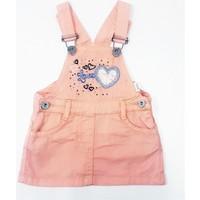 Sani My Love Kız Bebek Salopet Elbise Yavruağzı