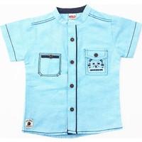Kumru Kids Wheels Erkek Çocuk Gömlek Mavi