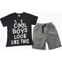 Kumru Kids Cool Boys Erkek Çocuk Takımı Siyah