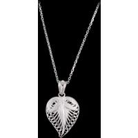 Akyüz Gümüş Kalp İşlemeli Telkari Gümüş Kolye Klt075