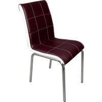 Mavi Mobilya Sandalye Kahverengi Suni Deri (4 Adet)