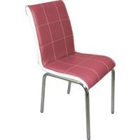 Mavi Mobilya Sandalye Gül Kurusu Suni Deri (6 Adet)