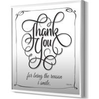 The Mia Dekoratif Ayna Thank You 68 * 68 Cm - Siyah