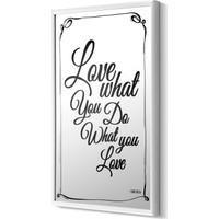 The Mia Dekoratif Ayna Love 70 * 54 Cm - Siyah