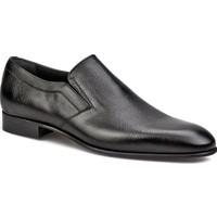 Cabani Bağcıksız Klasik Erkek Ayakkabı Siyah Kırma Deri