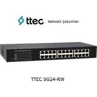 Ttec Switch Sg24-Rw, 24-Port 10/100/1000M Gigabit Ethernet, Rack Web Smart Switch