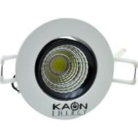 Kaon 3W Sıva Altı Ultra Soğutmalı Yuvarlak Cob Led Panel (Beyaz Işık)