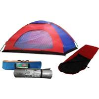 Bilge Kamp Seti (Çadır + Uyku Tulumu + Mat)