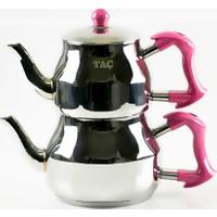 Taç Asya Çaydanlık Takımı Büyük Boy Çelik