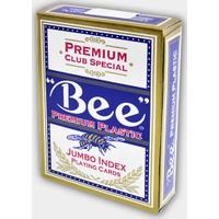 Bee Jumbo Plastik Poker İskambil Oyun Kağıdı Destesi Mavi