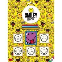Multi Print Smiley Damga / 5'li Set
