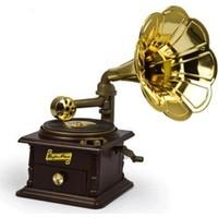 Wildlebend Gramofon Şeklinde Takı Çekmeceli Müzik Kutusu - 1