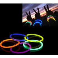 Wildlebend 10 Adet Glow Stick Bracelet Fosforlu Kırılan Çubuk Bileklik