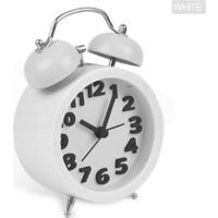 Wildlebend Twin Bell 3D Masaüstü Alarmlı Saat - Beyaz