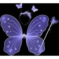 Wildlebend Gösteri Kelebek Kanadı (3 Parça)-Mor