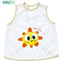 Baby Jem Yeni Poli Muşamba Önlük Beyaz/Sarı Biye