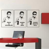 Hepsi Duvar Önce İş Güvenliği Duvar Sticker