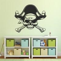 Hepsi Duvar Pirate Skull Duvar Sticker