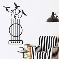 Hepsi Duvar Guitar Birds Duvar Sticker