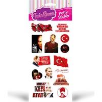 Atatürk Puffy Sticker